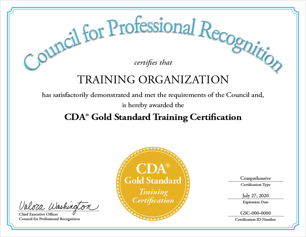 CDA GOLD STANDARD AWARDED TO SIX EARLY CHILDHOOD EDUCATION PROGRAMS