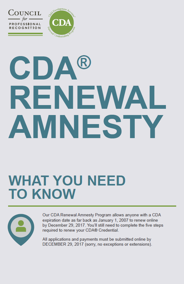 Cda Renewal Amnesty Commit To Submit Your Application Do What You